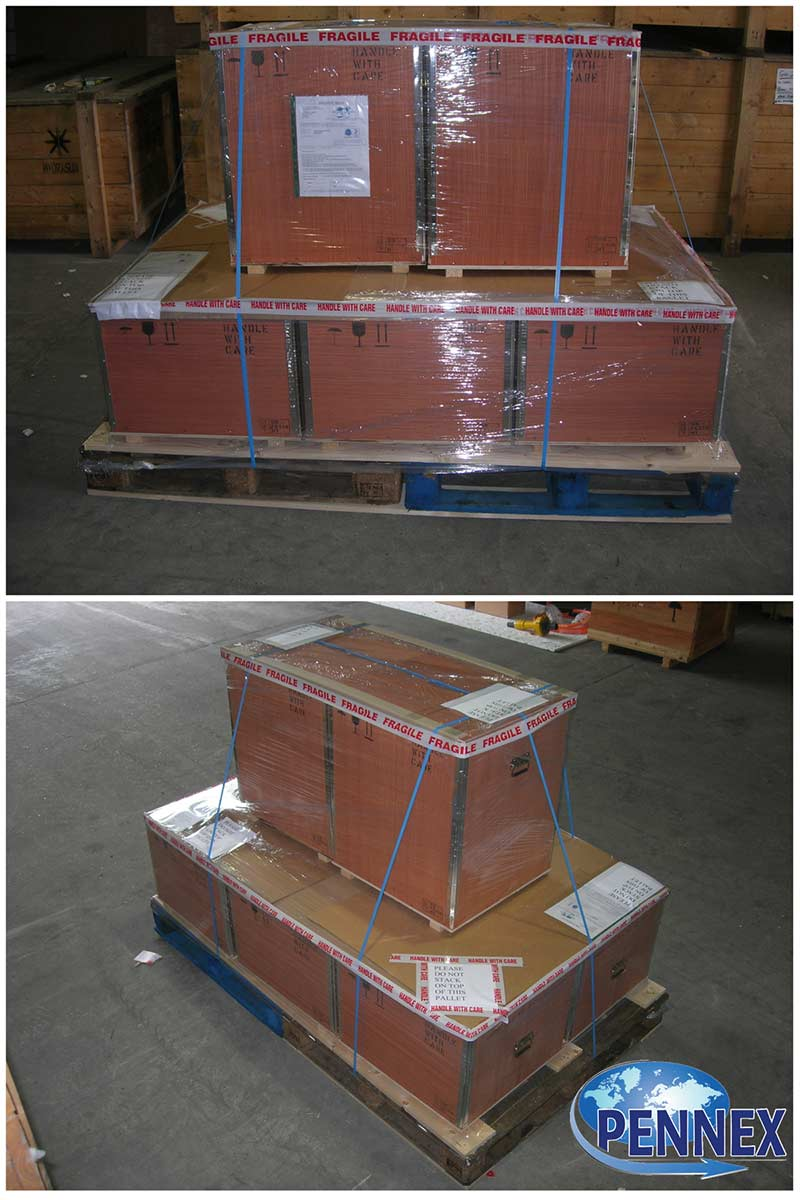 Shrink Wrapped Plywood Boxes